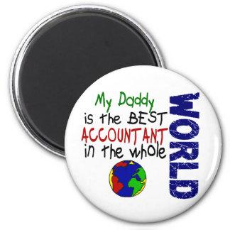 Best Accountant In World 2 (Daddy) 2 Inch Round Magnet
