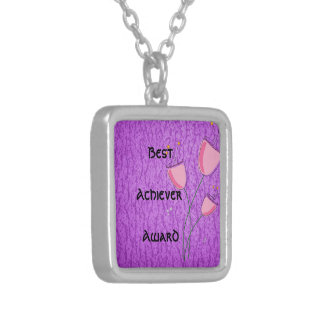 Best achiever Purple Pattern Art Personalized Necklace