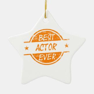 Best Actor Ever Orange.png Ceramic Ornament