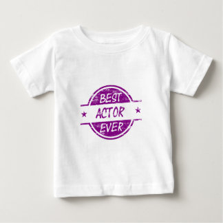 Best Actor Ever Purple.png Baby T-Shirt
