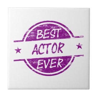 Best Actor Ever Purple.png Ceramic Tile