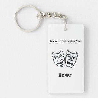 Best Actor/Lead Role: Roger Single-Sided Rectangular Acrylic Keychain