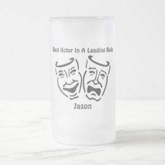 Best Actor/Leading Role: Jason Frosted Glass Beer Mug