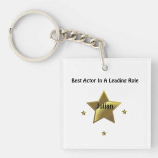 Best Actor/Leading Role: Julian Single-Sided Square Acrylic Keychain