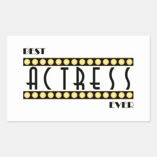 Best Actress Ever Rectangular Sticker