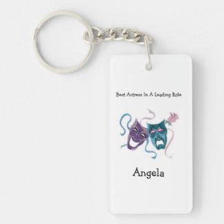 Best Actress/Lead Role: Angela Single-Sided Rectangular Acrylic Keychain