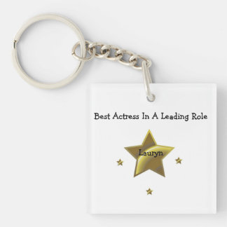 Best Actress/Leading Role: Lauryn Single-Sided Square Acrylic Keychain