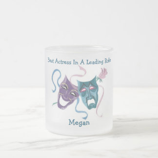 Best Actress/Leading Role: Megan Frosted Glass Coffee Mug