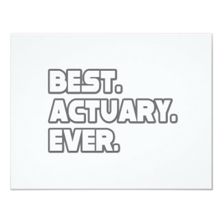 Best Actuary Ever Card
