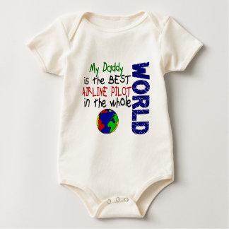 Best Airline Pilot In World 2 (Daddy) Baby Bodysuit