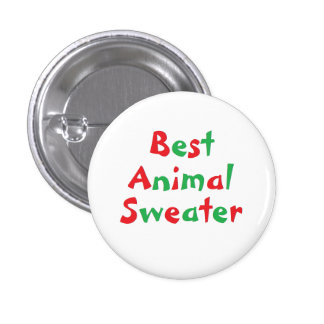 """Best Animal Sweater"" Award Button"