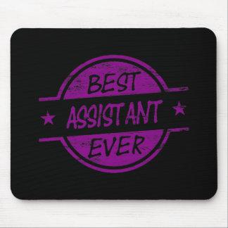 Best Assistant Ever Purple Mouse Pad