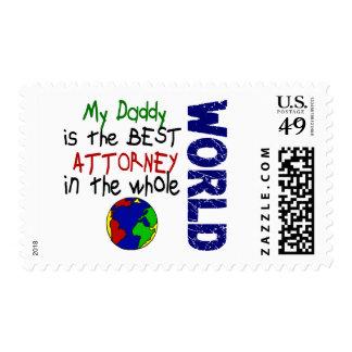 Best Attorney In World Daddy Stamp