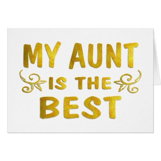 Best Aunt Card
