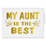 Best Aunt Cards
