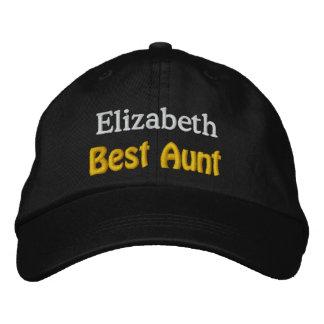 Best Aunt Custom Name V01 BLACK with GOLD WHITE Cap