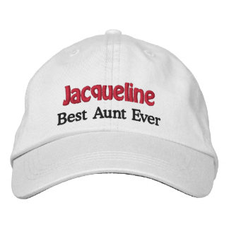 Best Aunt Custom Name V02 WHITE with BLACK and RED Cap