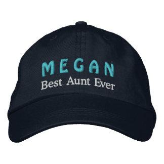Best Aunt Custom Name V07 NAVY BLUE Cap