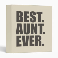 Avery Signature 1' Binder with Best. Aunt. Ever. design