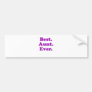 Best Aunt Ever Bumper Sticker