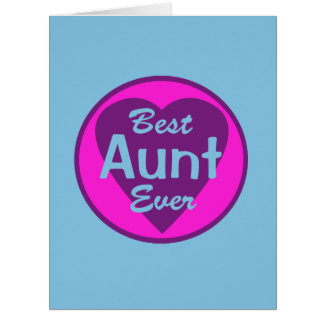Best Aunt Ever Card