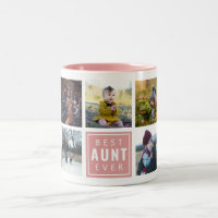 Best AUNT Ever Custom Photo Mug