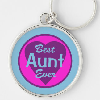 Best Aunt Ever Deluxe Keychain