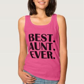 Best Aunt Ever funny women's tank top