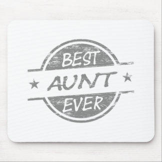 Best Aunt Ever Gray Mouse Pad