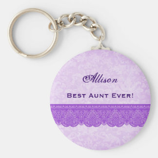 Best Aunt Ever Orchid Purple F418 Keychain