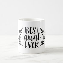 Best Aunt Ever Personalized Coffee Mug