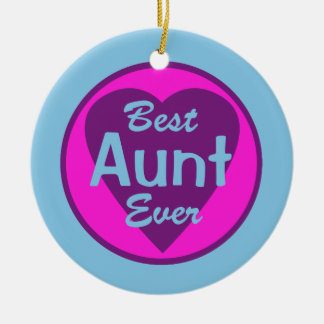 Best Aunt Ever Personalized Ornament