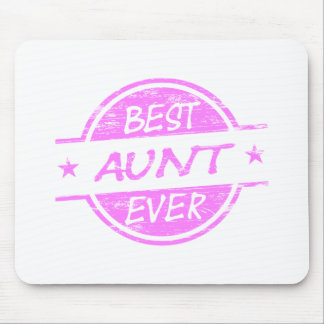 Best Aunt Ever Pink Mouse Pad