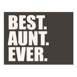 Postcard with Best. Aunt. Ever. design