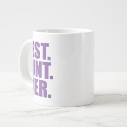 Jumbo Mug with Best. Aunt. Ever. (purple) design
