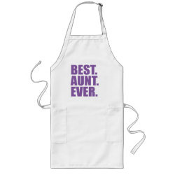Long Apron with Best. Aunt. Ever. (purple) design