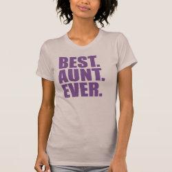 Women's American Apparel Fine Jersey Short Sleeve T-Shirt with Best. Aunt. Ever. (purple) design