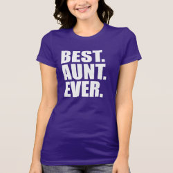 Women's Bella Jersey T-Shirt with Best. Aunt. Ever. (purple) design