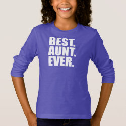 Girls' Basic Long Sleeve T-Shirt with Best. Aunt. Ever. (purple) design