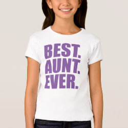 Girls' Bella+Canvas Fitted Babydoll T-Shirt with Best. Aunt. Ever. (purple) design