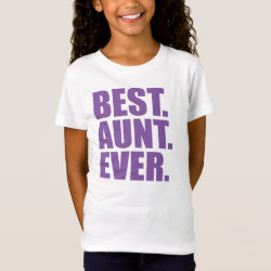Girls' Fine Jersey T-Shirt with Best. Aunt. Ever. (purple) design