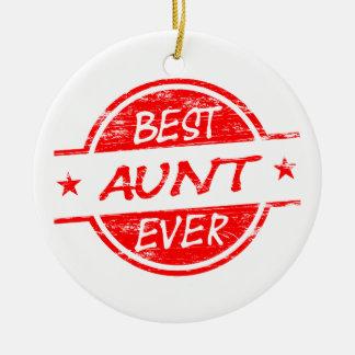 Best Aunt Ever Red Ceramic Ornament