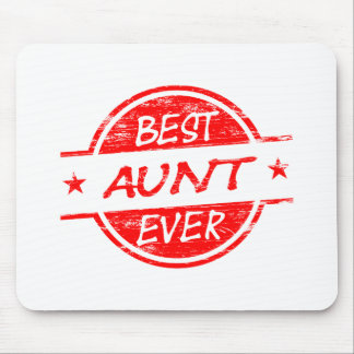 Best Aunt Ever Red Mouse Pad