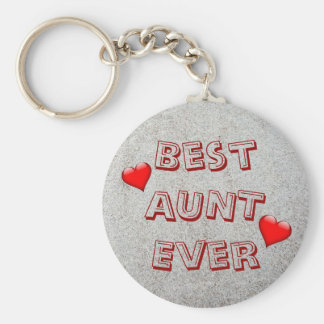 Best aunt ever | Sand texture photo Keychain