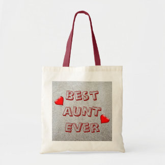Best aunt ever   Sand texture photo Tote Bag