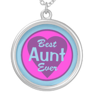 Best Aunt Ever Silver Plated Necklace
