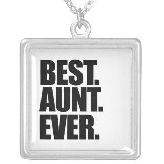 Best aunt ever square pendant necklace