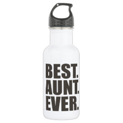 Water Bottle (24 oz) with Best. Aunt. Ever. design