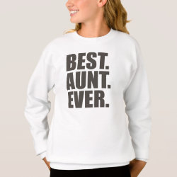 Girls' Hanes ComfortBlend® Sweatshirt with Best. Aunt. Ever. design