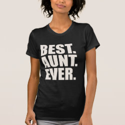 Women's American Apparel Fine Jersey Short Sleeve T-Shirt with Best. Aunt. Ever. design